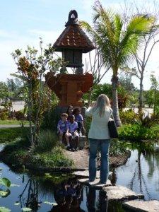 Small pagoda in Asian sector of Naples Botanical Garden