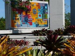 Mosaic wall in Brazilian garden, Naples Botanical Garden