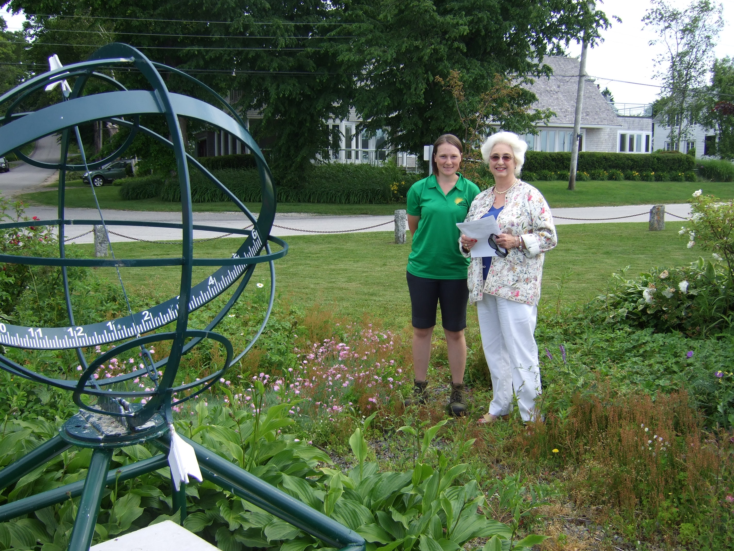 armillary sphere and weedy park