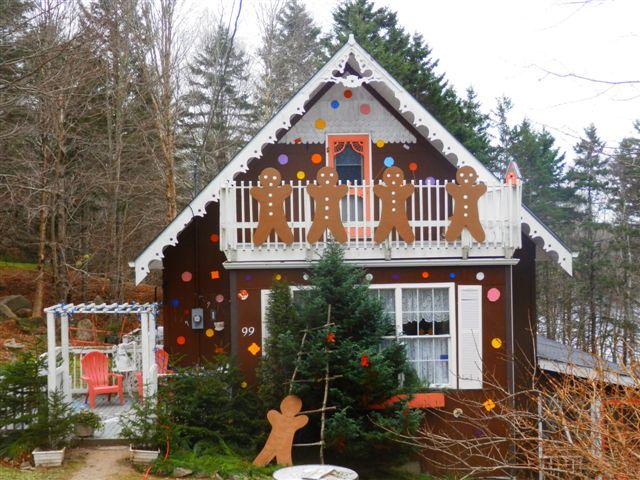 Gingerbread festival house