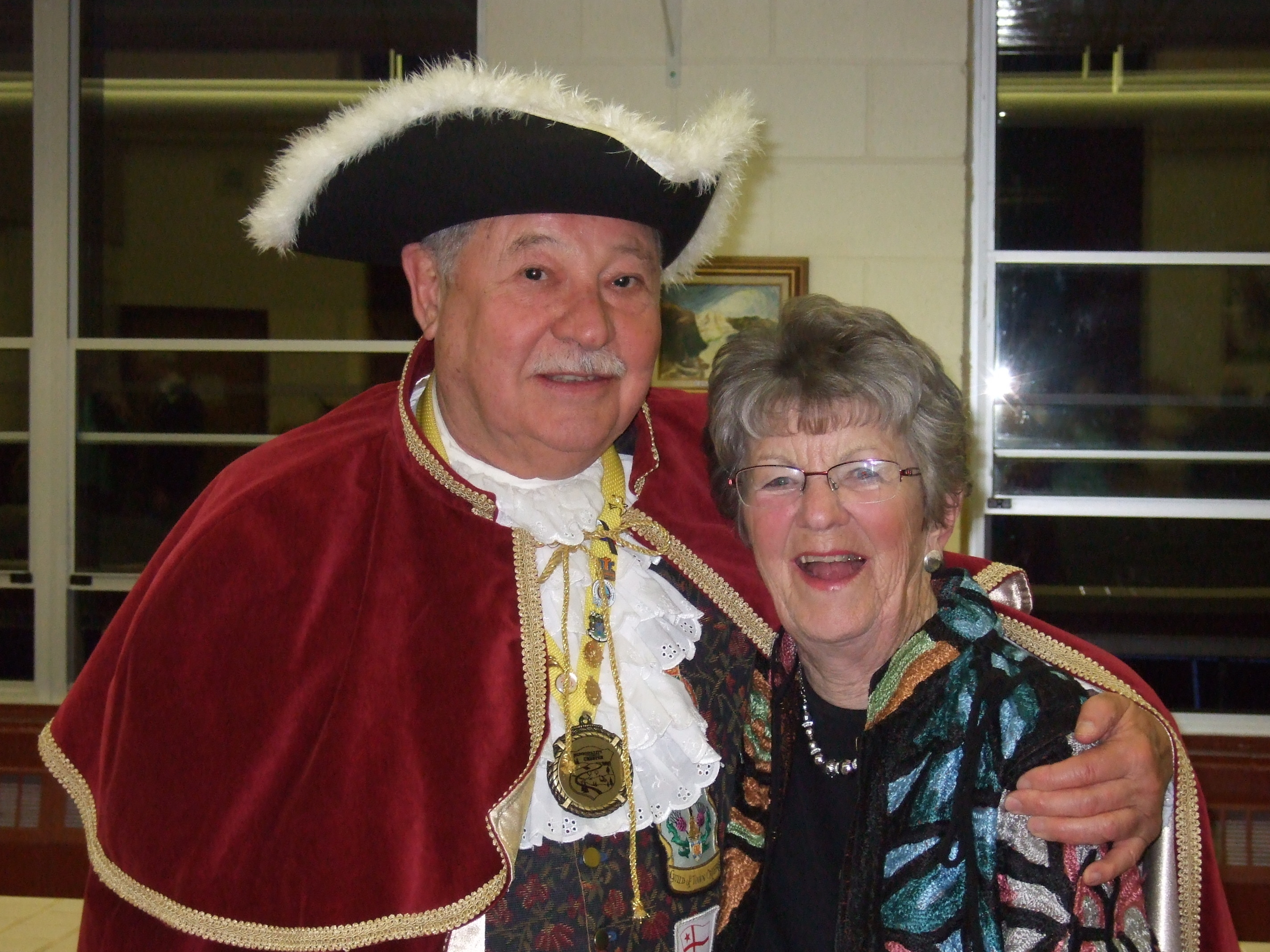 Jane  and town crier