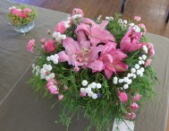 Another delicate arrangement in a teacup.