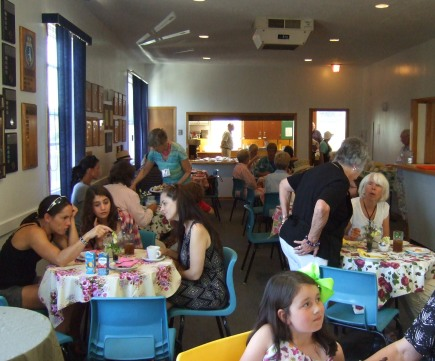 And, throughout the afternoon, the tearoom was filled with visitors.