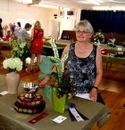 """Jocelyn took home the Dudley Lees trophy for her entry in the class """"Shoots, Roots and Fruits""""."""