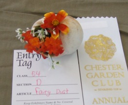The many delicate little arrangements entered in the miniature class were much admired.