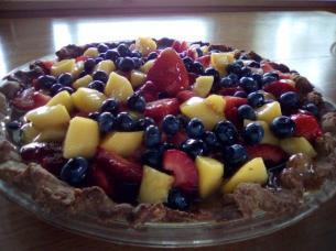 Brenda's Mixed fresh fruit glased pie