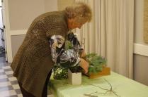 Sheila working on her arrangement