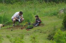 2016 June 4th Jeremy & Phin planting IMGP2200