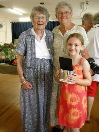 Katie with Jane and Grandma